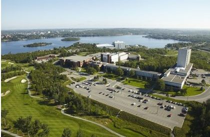 Aerial view of Laurentian University