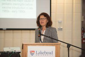 Dr. Marina Ulanova at podium