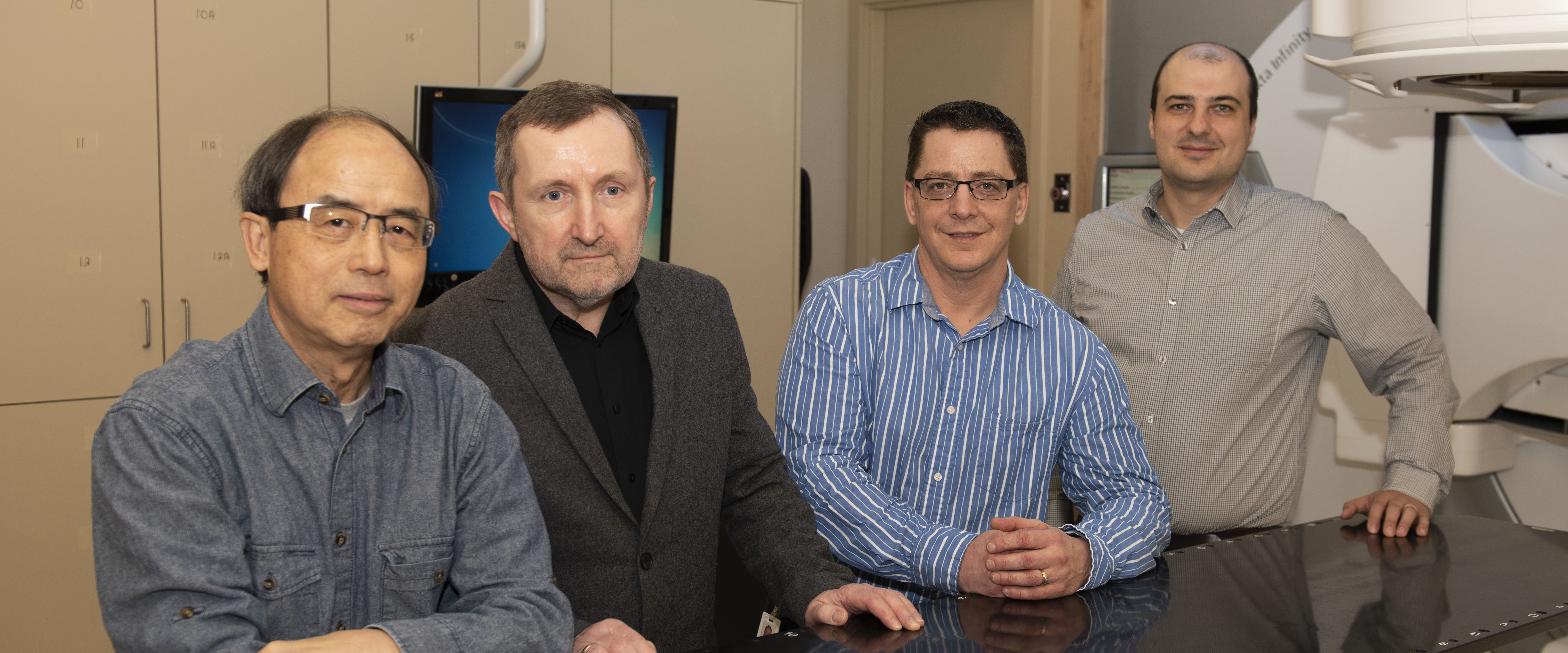 Photo of medical physics faculty members at Health Sciences North in Sudbury, Ontario