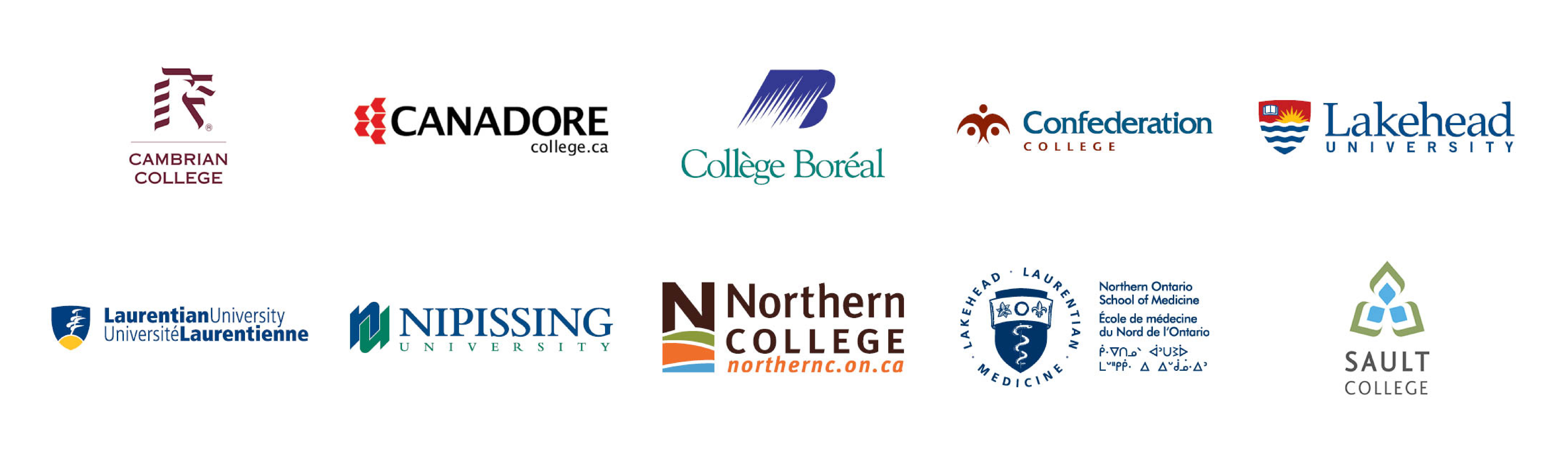 Photo of the logos of the ten universities and colleges that form the NICHE partnership.