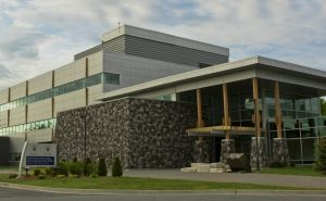 Photo of the medical school building at NOSM East Campus, Laurentian University, Sudbury