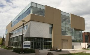 Photo of medical school building at NOSM West Campus, Lakehead University, Thunder Bay
