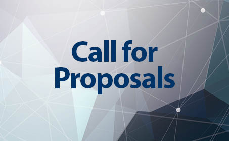 Image of blue background with the words Call for Proposals