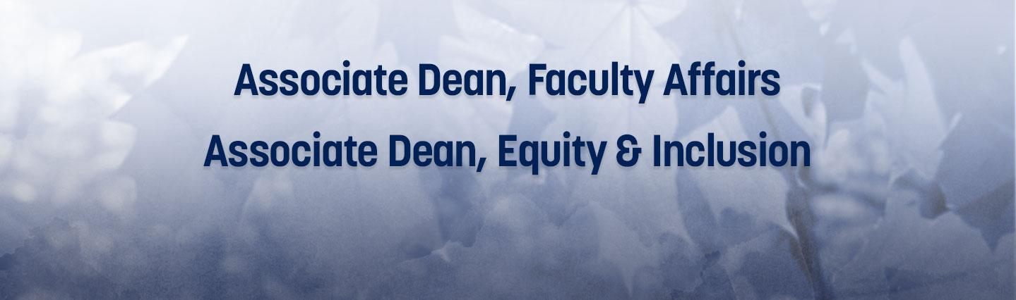 Job ad for Associate Dean Positions