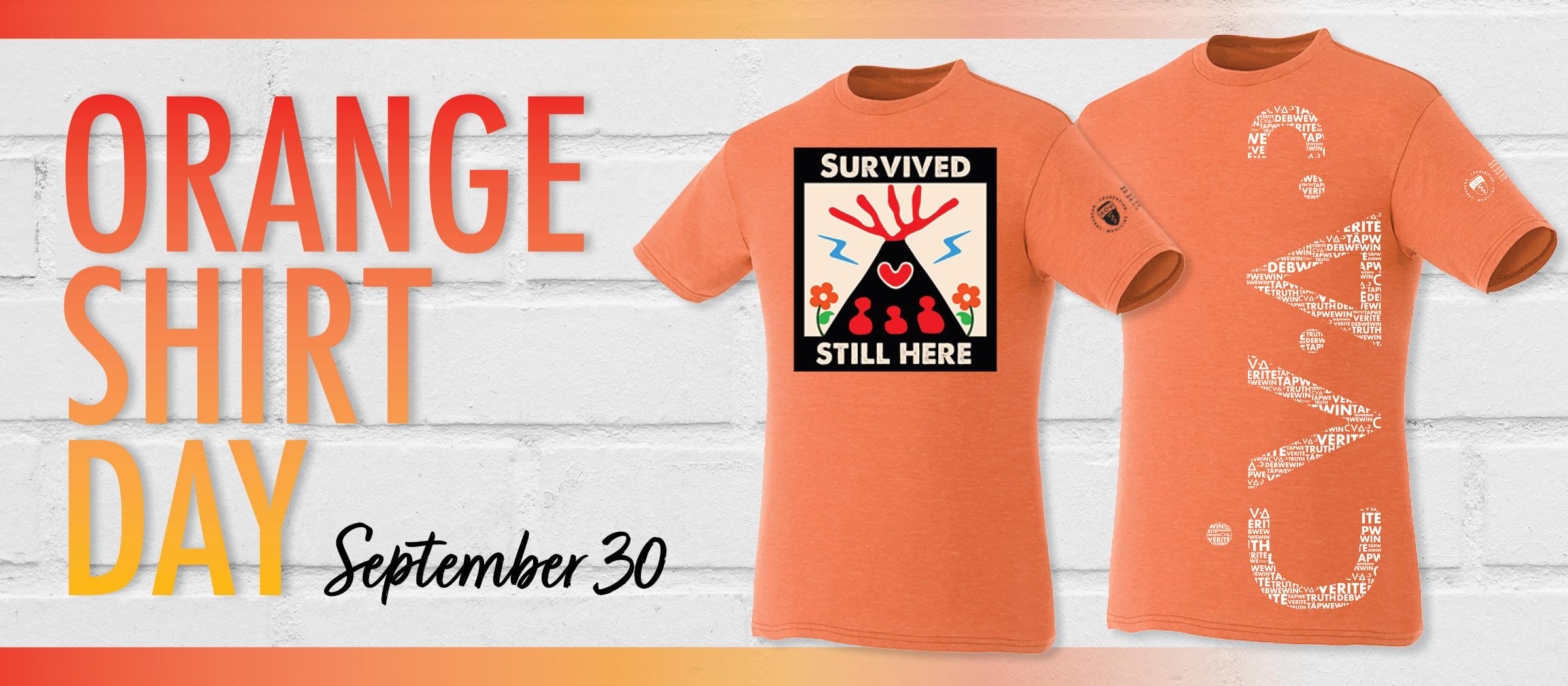 Orange Shirt Day is September 30